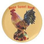 Oro dulce casero del gallo de la granja casera platos de comidas