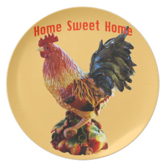 Oro dulce casero del gallo de la granja casera plato de comida