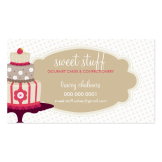 Oro dulce LINDO del rojo de la panadería de la Tarjetas De Visita