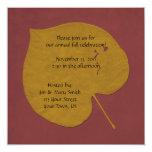 Oro e invitación anaranjada de la celebración de invitación 13,3 cm x 13,3cm