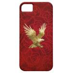 Oro Eagle del vuelo iPhone 5 Coberturas