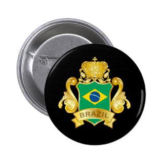 Oro el Brasil Pin Redondo 5 Cm