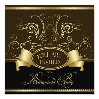 Oro elegante Bl de Brown de la invitación del