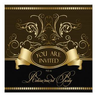 Oro elegante Bl de Brown de la invitación del fies