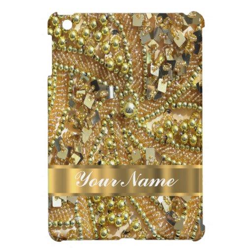 Oro elegante bling iPad mini coberturas