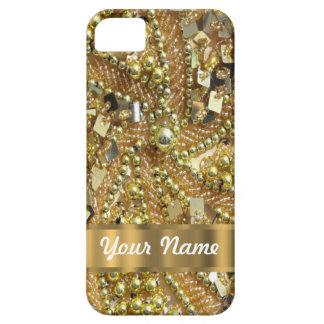 Oro elegante bling funda para iPhone SE/5/5s