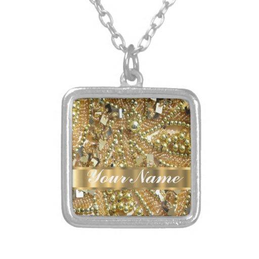 Oro elegante bling grimpolas personalizadas