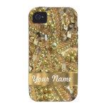 Oro elegante bling iPhone 4 funda