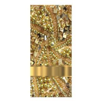 Oro elegante bling lonas personalizadas