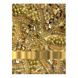 Oro elegante bling postal