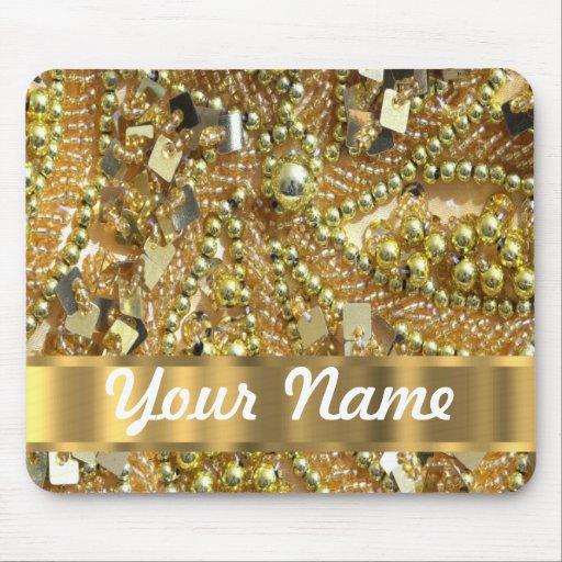 Oro elegante bling tapete de ratones