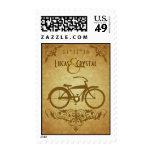 Oro elegante de la bicicleta del vintage envio