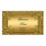 Oro elegante de la élite en la tarjeta floral 2 de tarjetas de visita