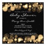 Oro elegante de la fiesta de bienvenida al bebé invitación 13,3 cm x 13,3cm