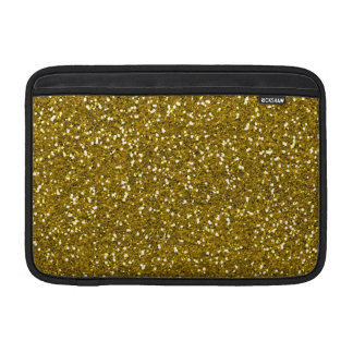 Oro elegante del brillo funda macbook air