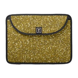 Oro elegante del brillo funda para macbook pro