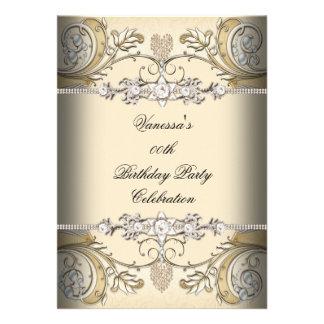 Oro elegante del café de la sepia de la fiesta de comunicados personales