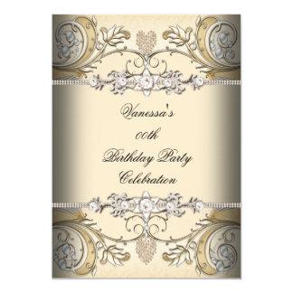 Oro elegante del café de la sepia de la fiesta de invitación 12,7 x 17,8 cm