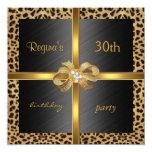 Oro elegante del leopardo del cumpleaños de la anuncio