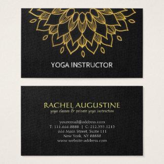 Oro elegante del negro del bordado del instructor tarjeta de negocios