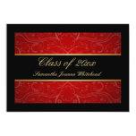Oro elegante/negro/graduación roja del remolino comunicado