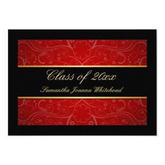 Oro elegante/negro/graduación roja del remolino