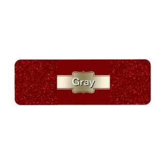 Oro elegante personalizado y efecto rojo del etiquetas de remite