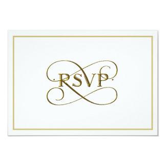 """Oro elegante que pone letras a las tarjetas de invitación 3.5"""" x 5"""""""