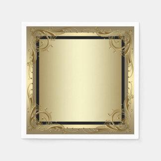 Oro elegante servilleta desechable