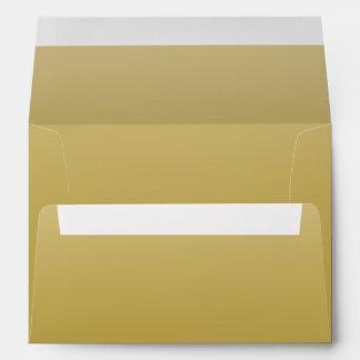 Oro elegante sobres