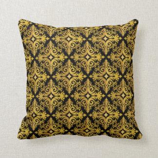 Oro elegante y diseño negro de la diadema cojín