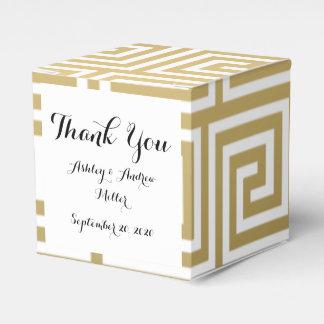 Oro elegante y modelo dominante griego blanco caja para regalos
