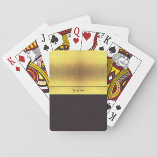 Oro elegante y negro barajas de cartas