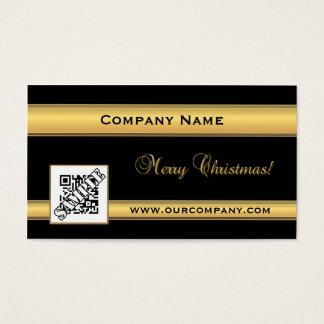 Oro elegante y tarjeta de visita negra del navidad