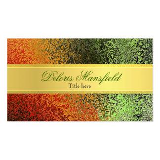 Oro elegante y tarjeta de visita verde de la mirad