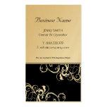Oro elegante y tarjetas de visita negras