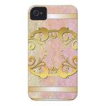 Oro embellecido Case-Mate iPhone 4 cobertura