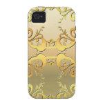 Oro embellecido vibe iPhone 4 carcasas