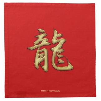 Oro en el año rojo de las servilletas del cóctel