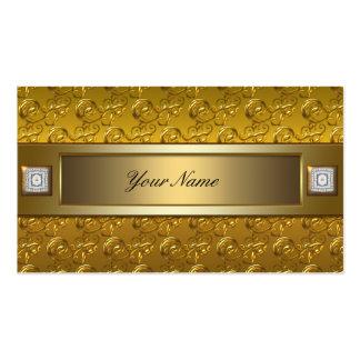 Oro en el Flourish elegante del remolino del oro l Plantilla De Tarjeta De Negocio