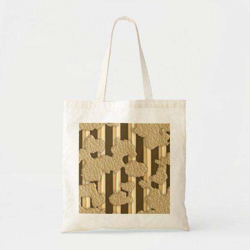 Oro en el oro bolsa tela barata