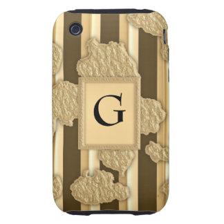 Oro en el oro carcasa resistente para iPhone