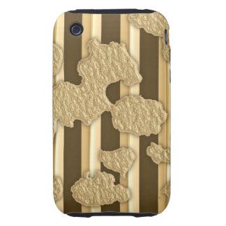 Oro en el oro carcasa though para iPhone 3