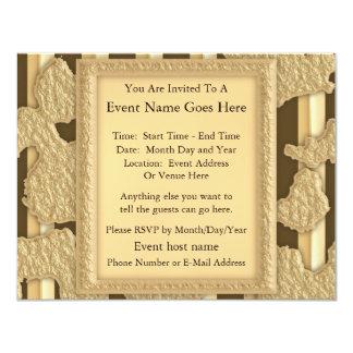 Oro en el oro invitacion personal