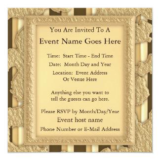 Oro en el oro invitaciones personales
