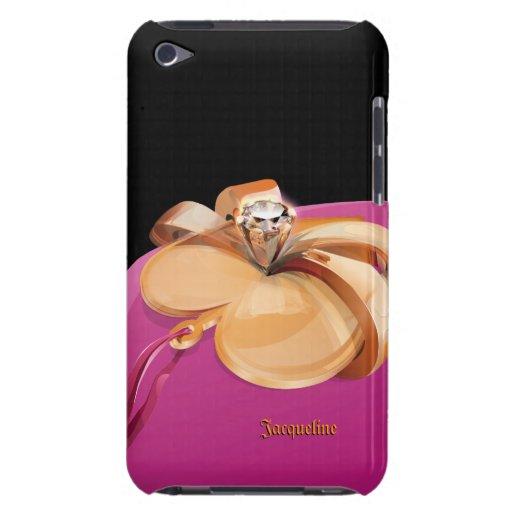 Oro en forma de corazón con el tacto de iPod del a iPod Touch Case-Mate Protectores