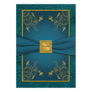 Oro en tarjeta de la recepción del trullo tarjeta de negocio