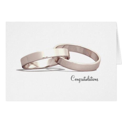 Oro entrelazado de los anillos - tarjetas de la en