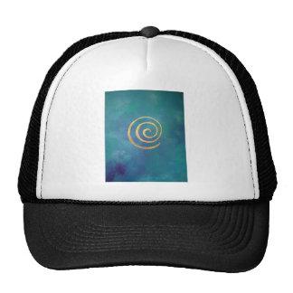 Oro espiral azul brillante del infinito del arquer gorras