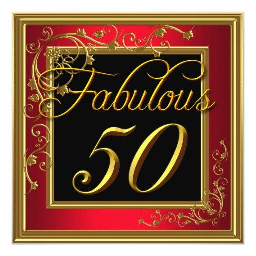 Oro fabuloso del rojo de la fiesta del cumpleaños comunicado